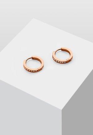 MIT ZIRKONIA STEINEN - Ohrringe - rose gold-coloured