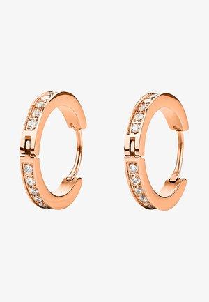 MIT ZIRKONIA STEINEN - Earrings - rose gold-coloured