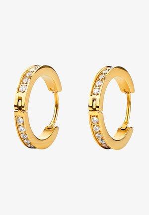 MIT ZIRKONIA STEINEN - Earrings - gold-coloured