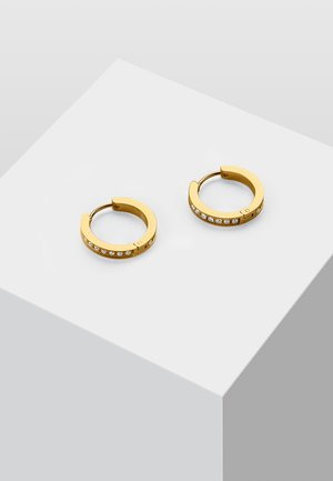 MIT ZIRKONIA STEINEN - Earrings - gold-coloured