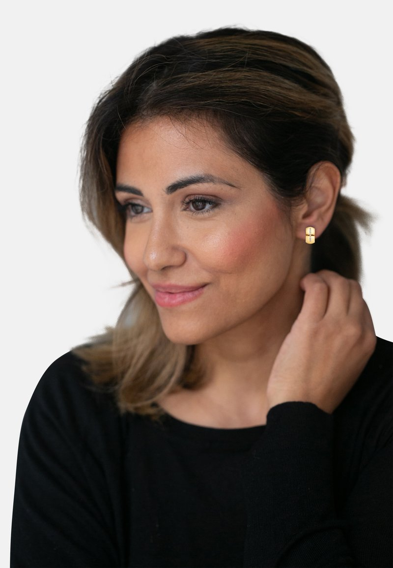 Heideman - CREOLE LINES - Earrings - gold