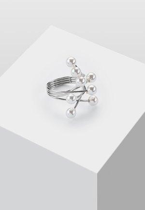 SPANNRING MIT STEIN - Ring - silver-coloured