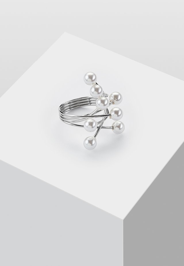 SPANNRING MIT STEIN - Ring - silver-coloured