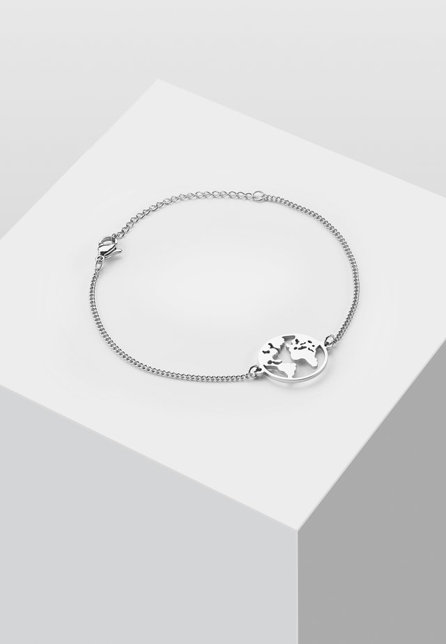 WELTKUGEL GLOBUS - Armband - silver-coloured