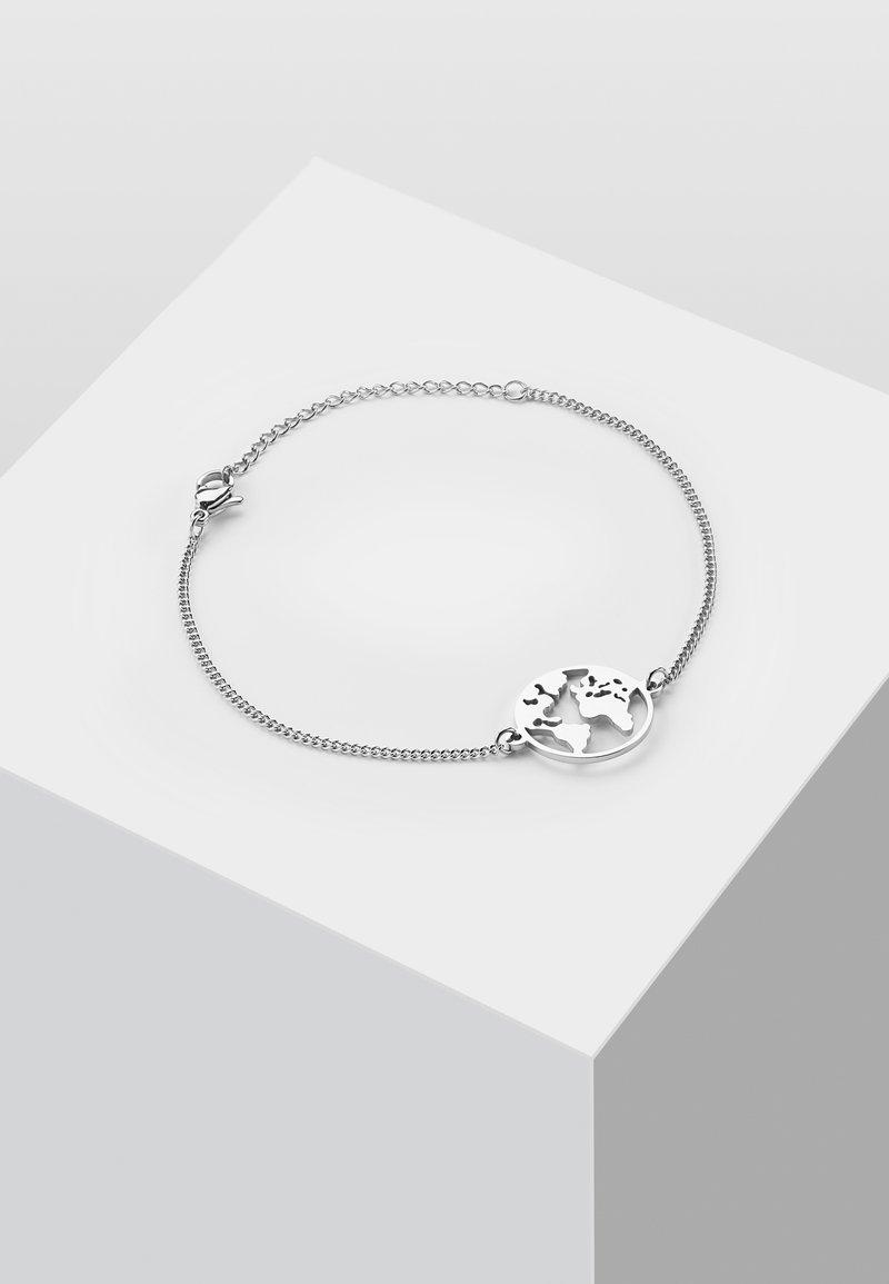 Heideman - WELTKUGEL GLOBUS - Bracelet - silver-coloured