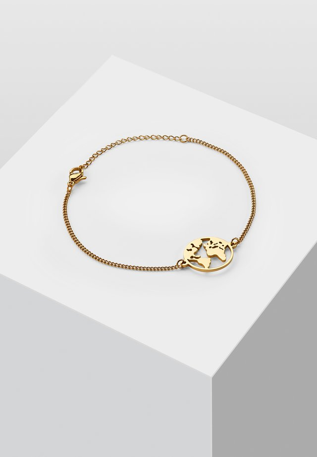 WELTKUGEL GLOBUS - Armband - gold-coloured