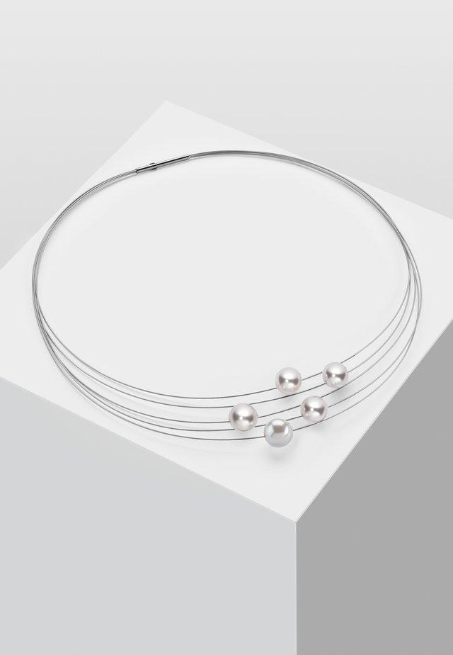MIT PERLE - Halsband - weiß