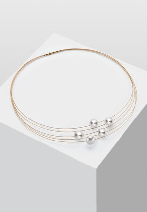 MIT PERLE - Necklace - gold