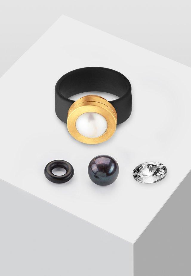 MIT PERLE  - Ring - black