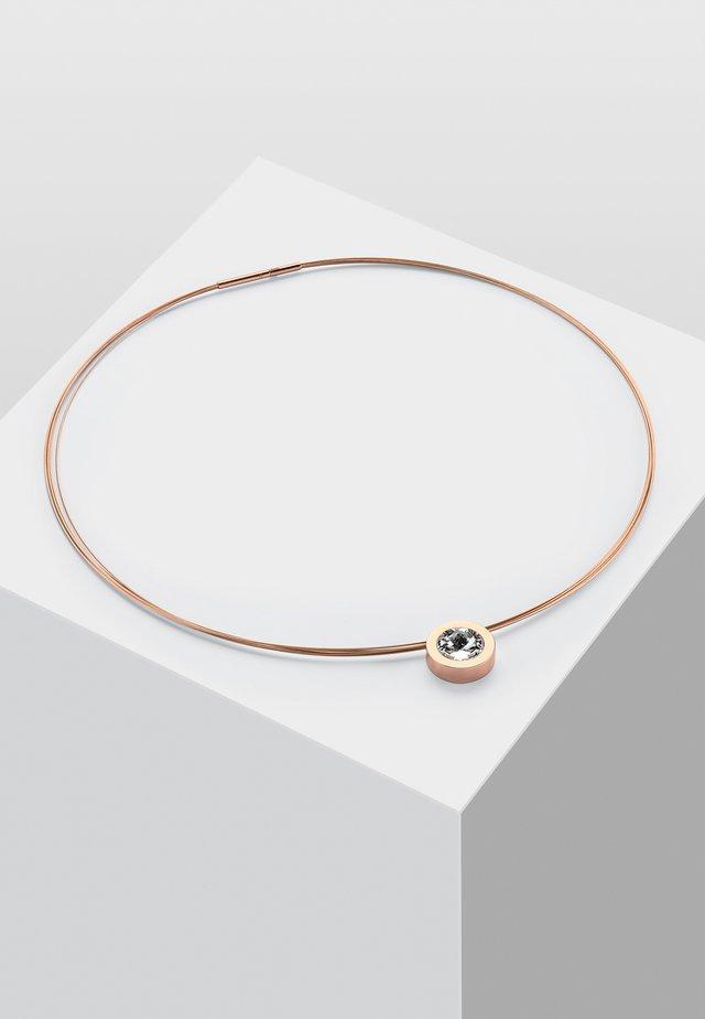 MIT STEIN - HALSKETTE COMA 16 ROSE STEIN WEISS - Halsband - rose gold-coloured