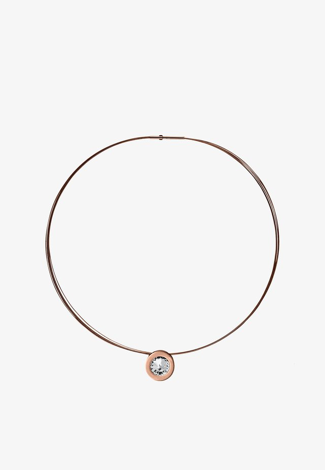 MIT STEIN - HALSKETTE COMA 16 ROSE STEIN WEISS - Halsband - rose gold-coloured