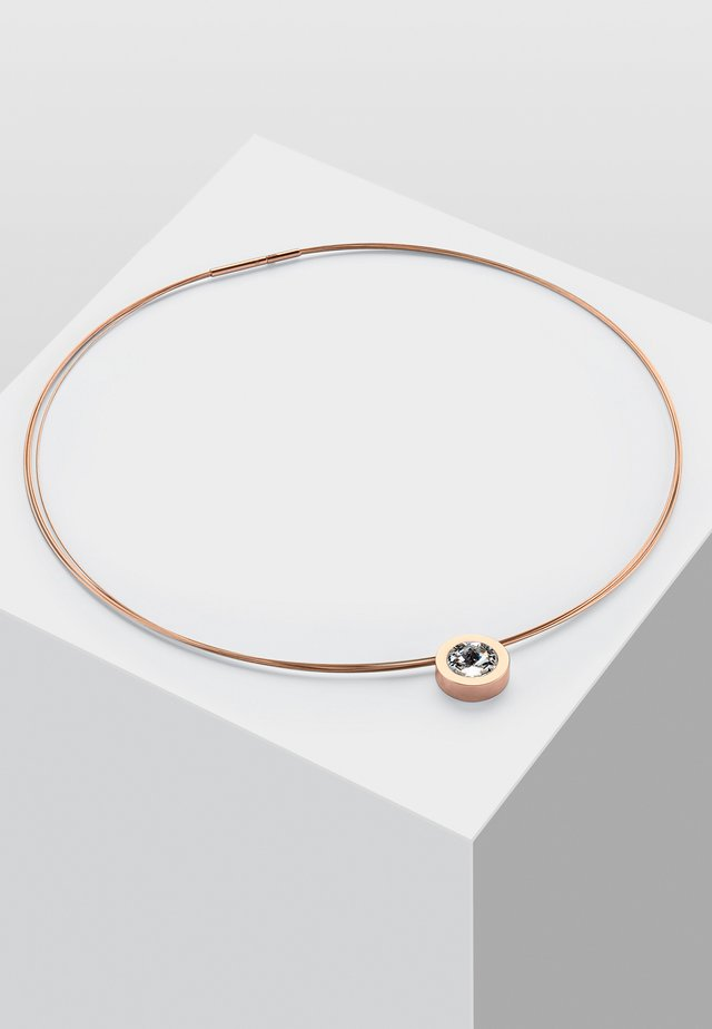 MIT PERLE - Halsband - rose gold-coloured