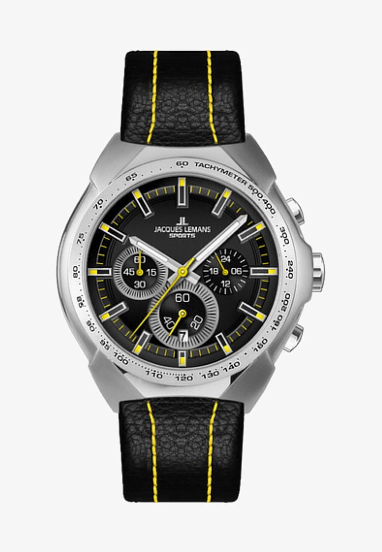 Jacques Lemans - Chronograph watch - black