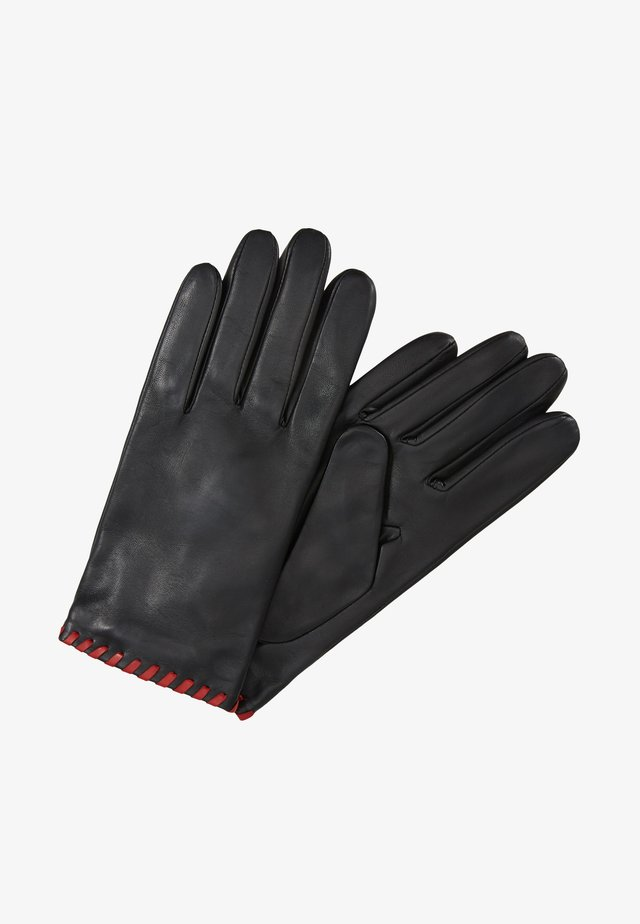 BELLA - Fingerhandschuh - black/crimson