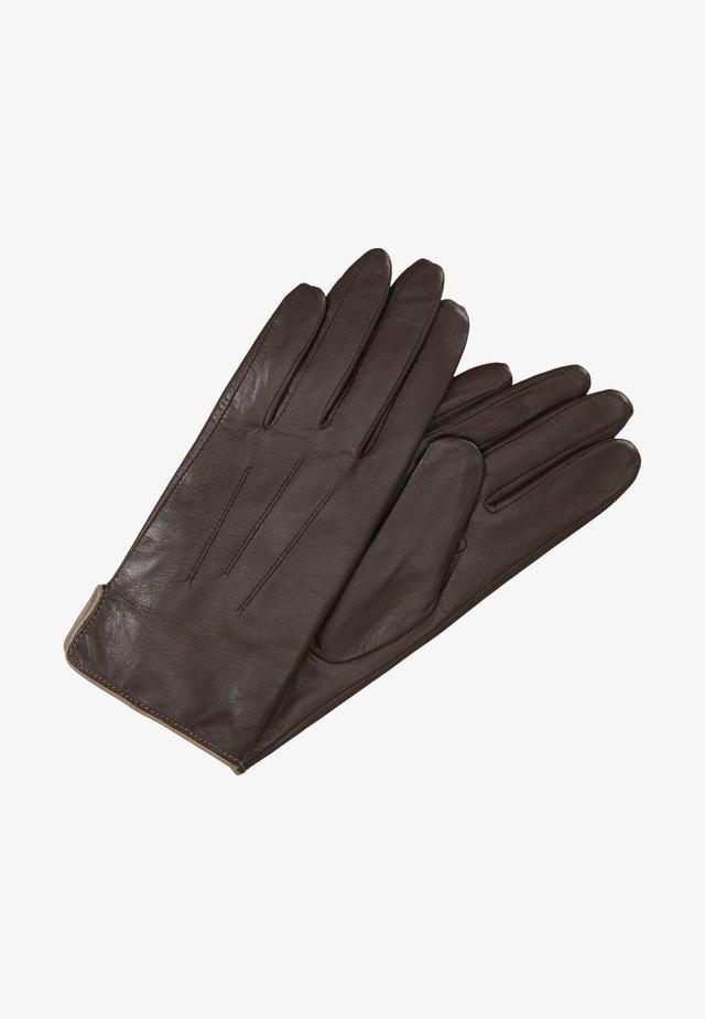 CARLA BICOLOR - Rękawiczki pięciopalcowe - manuch/mink