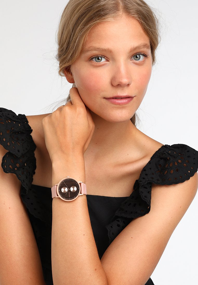Kerbholz - CLARA DOUBLE - Uhr - rose