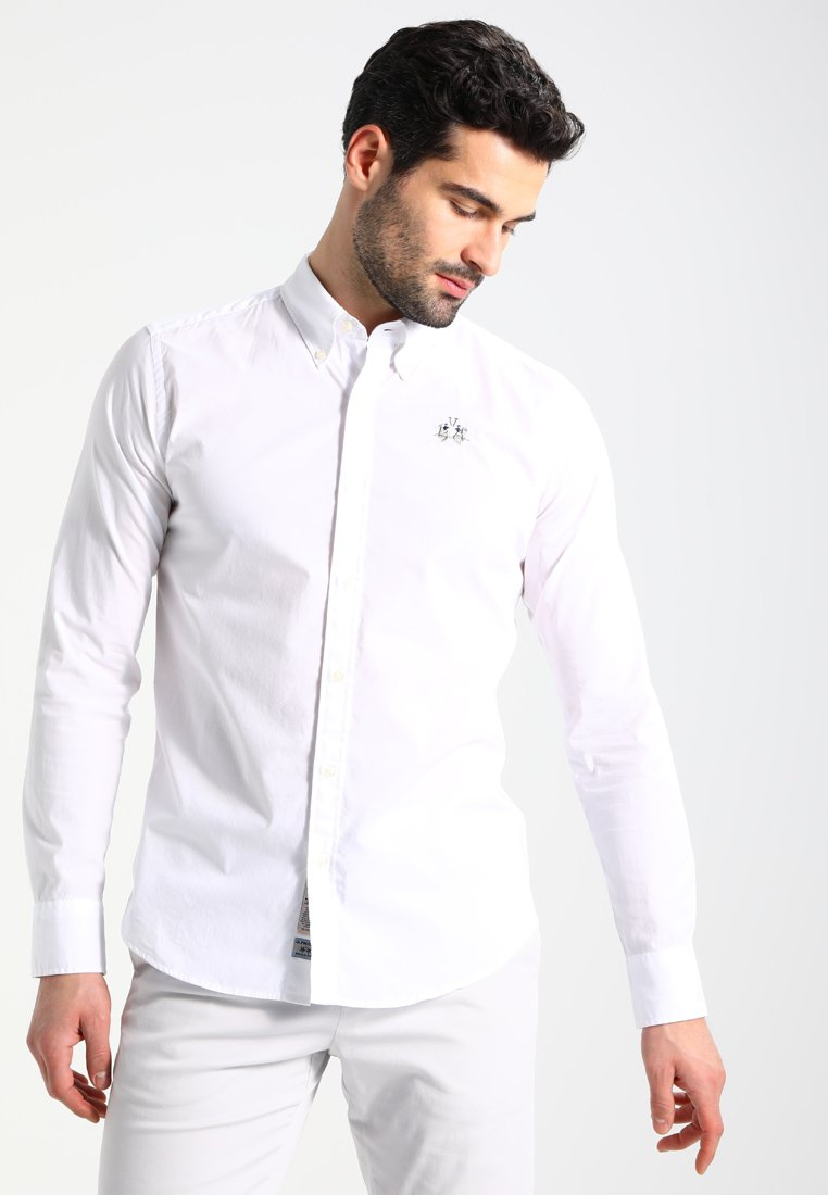 La Martina - SLIM FIT - Skjorte - optic white