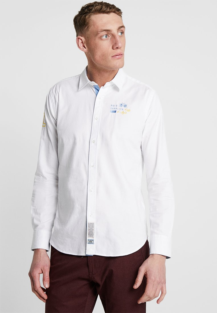 La Martina - OXFORD STRETCH - Shirt - optic white