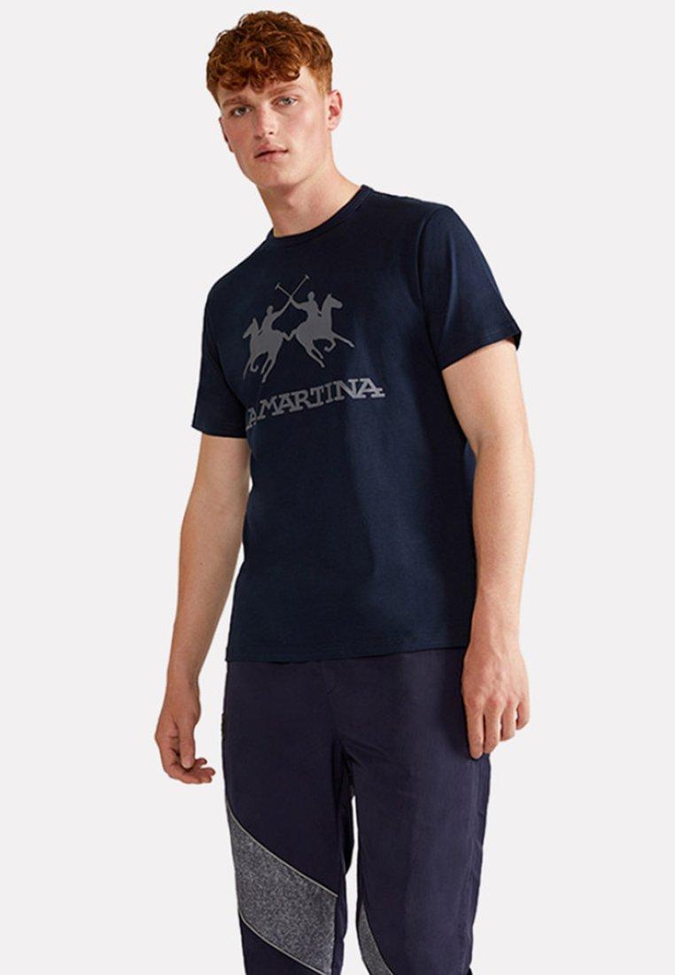 La Martina - RAMON - Print T-shirt - navy