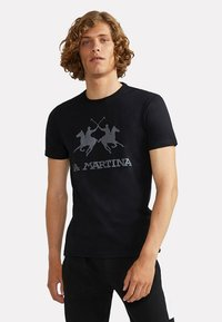 La Martina - RAMON - T-shirt con stampa - black - 0