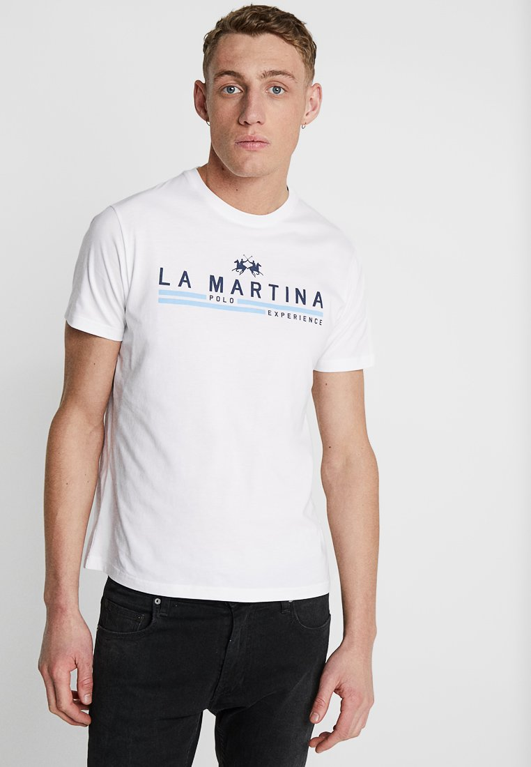 La Martina - MAN  - Print T-shirt - optic white
