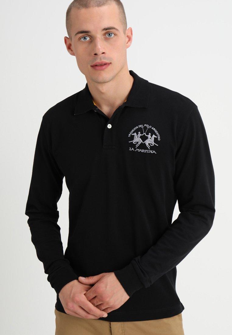 La Martina - STRETCH - Polo shirt - black