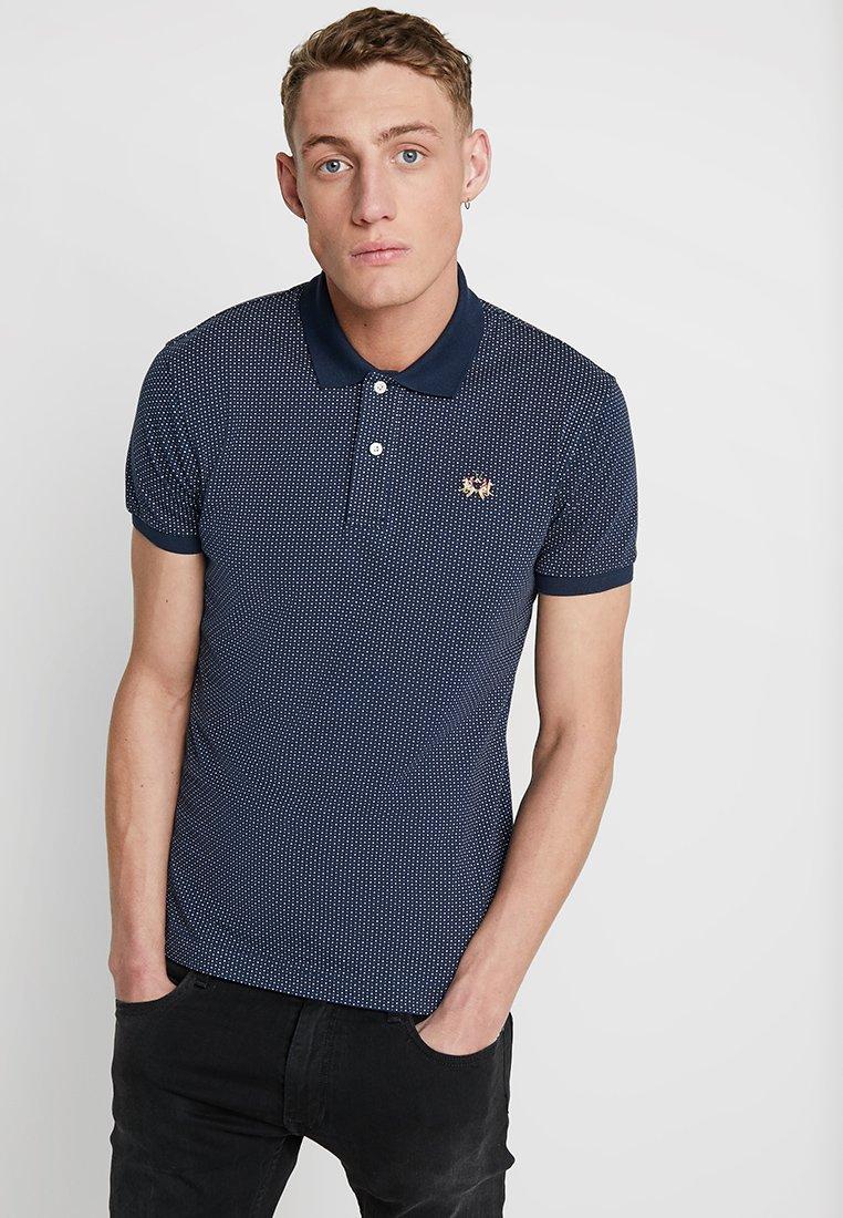 La Martina - Polo shirt - navy/optic white
