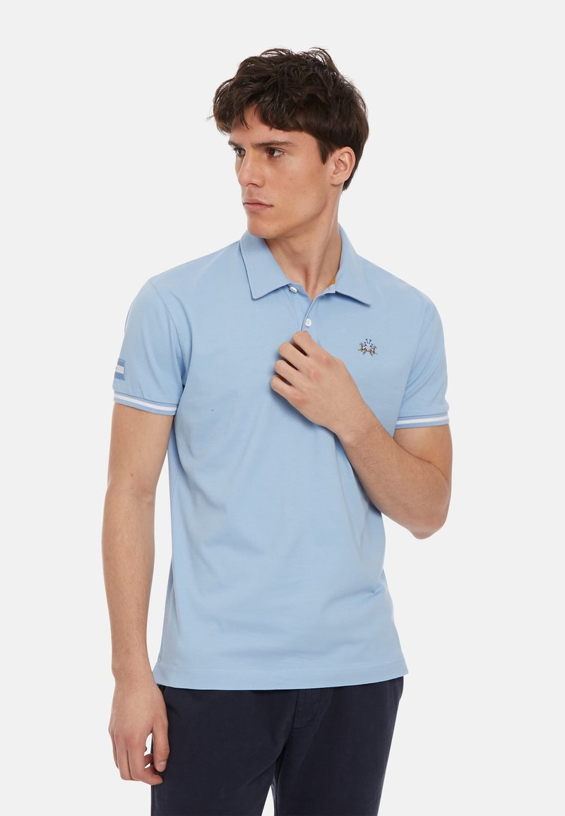 La Martina - MAN PIRI - Polo shirt - blue bell