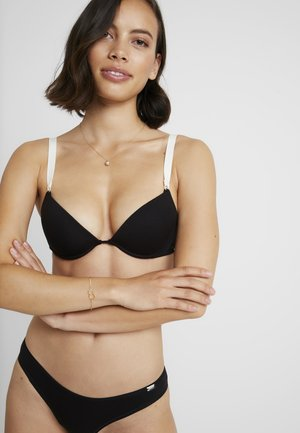 SOFT TOUCH PADDED WITH WIRE - Biustonosz push-up - black