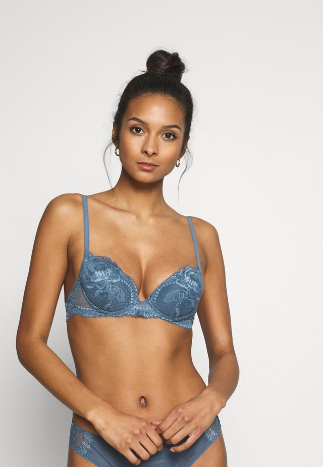 BRIGITTA PADDED WITH WIRE - Push-up bra - blue aviation