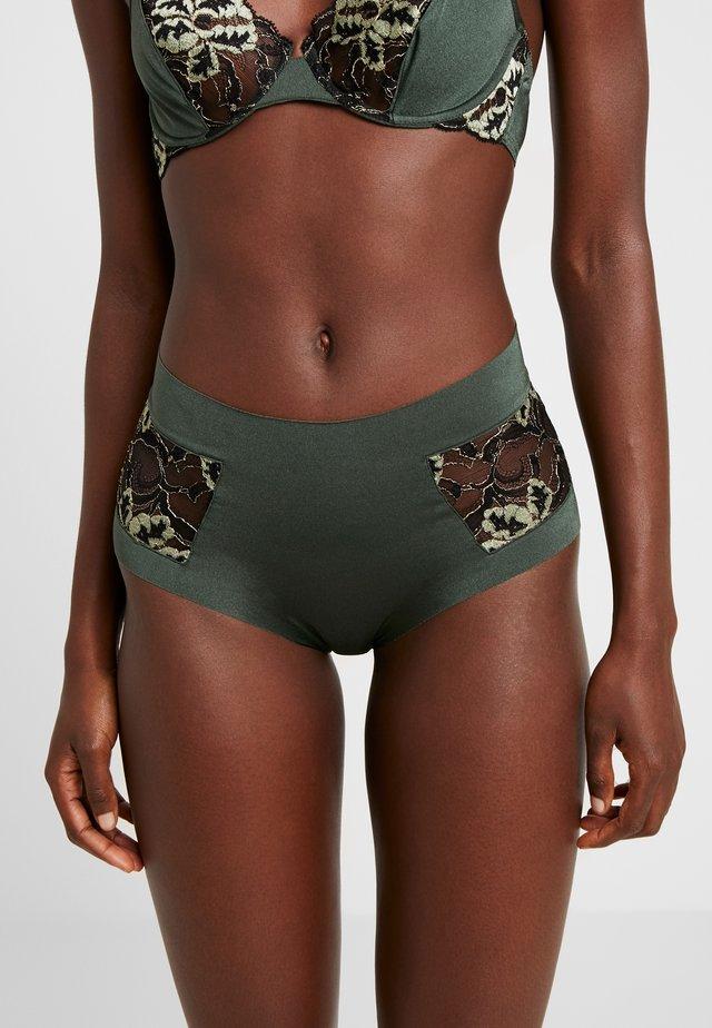 ADRIA HIGH BRIEF - Kalhotky/slipy - black/green