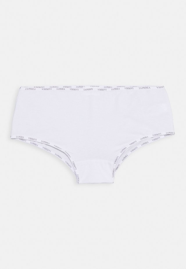 CULOTTE LOGO BORDER - Pants - bianco