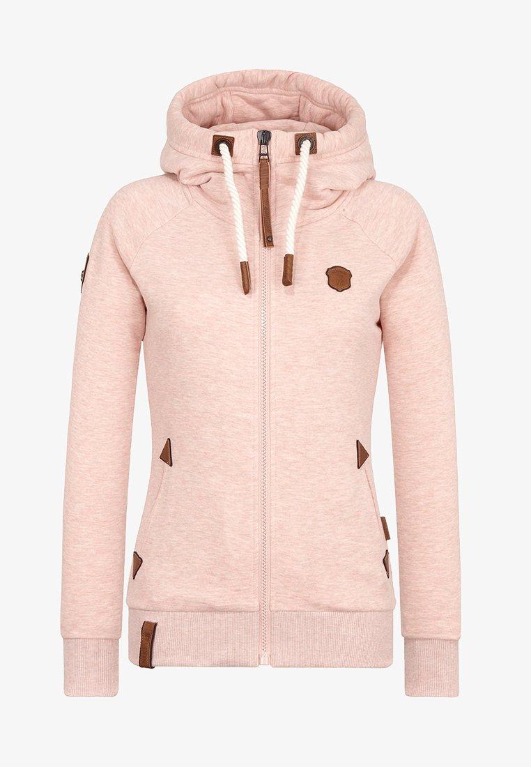 Naketano - Zip-up hoodie - pastel pink melange