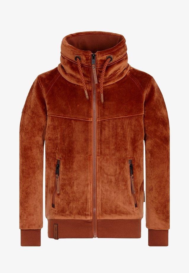 veste en sweat zippée - copper