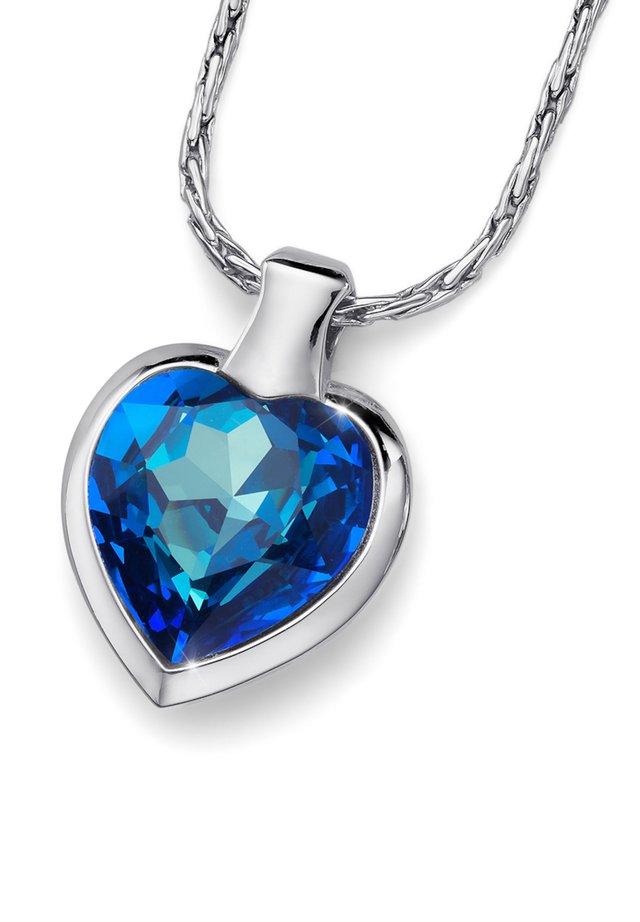 HEART - Halskette - blau