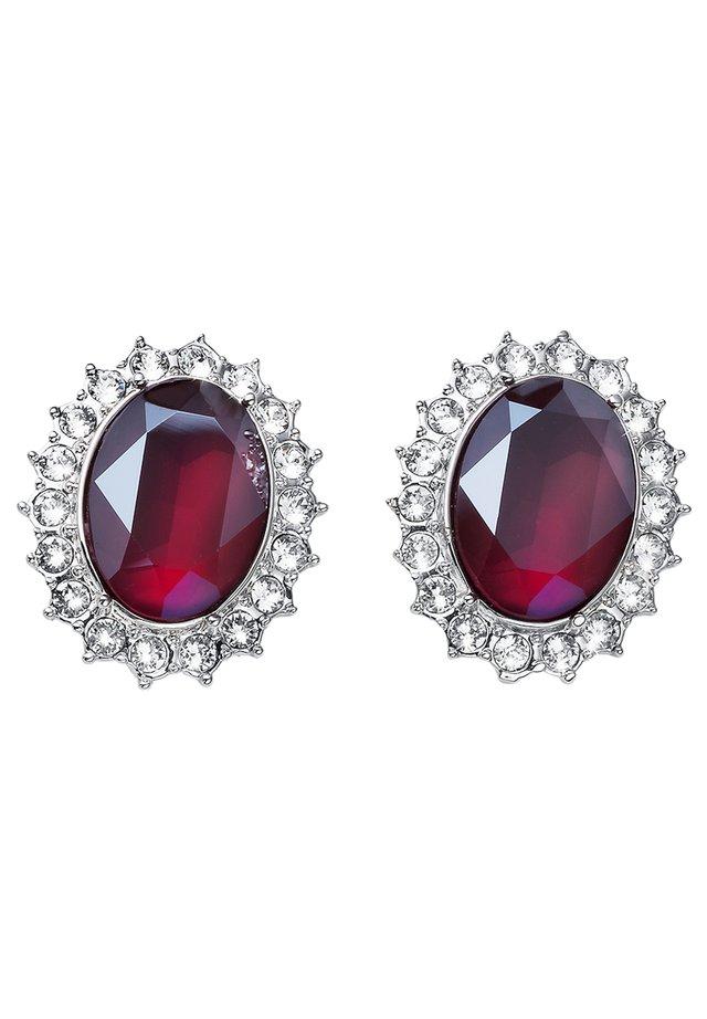 Boucles d'oreilles - silver/red