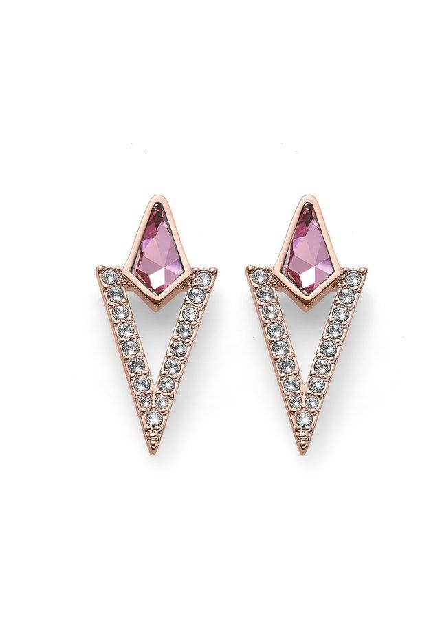LOCATE - Boucles d'oreilles - rosegold violett
