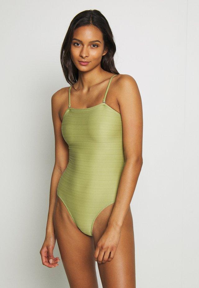 TAHITI BANDEAU ONE PIECE - Swimsuit - aloe