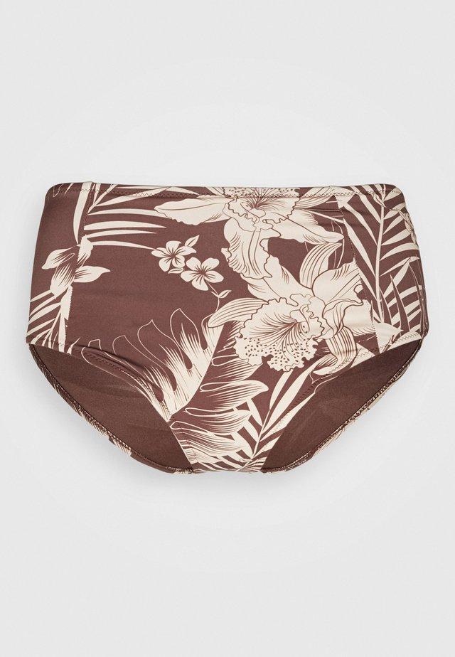 MAHINA HI WAIST PANT - Bikini bottoms - cocoa