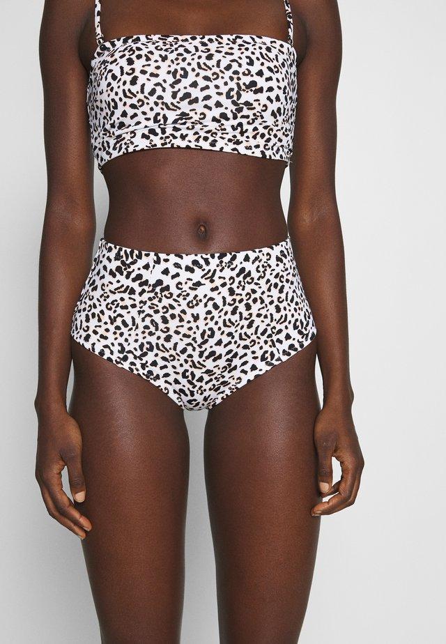 MALAWI HI WAIST PANT - Bikini bottoms - white