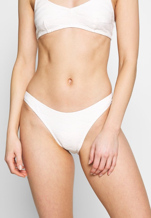 MALDIVES HIGH CUT PANT - Dół od bikini - white