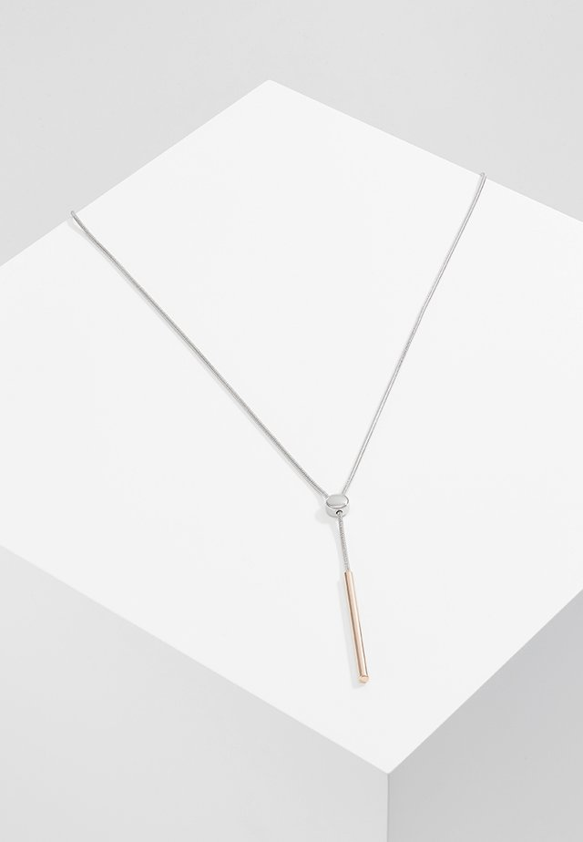 TUBE - Necklace - silver-coloured/roségold-coloured