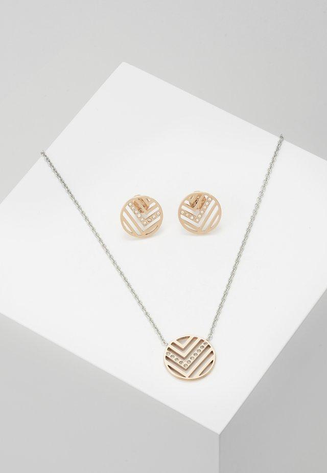 ELIN SET - Ohrringe - rose gold-coloured/silver-coloured