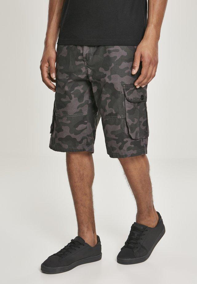 BELTED CAMO CARGO - Shorts - grey black