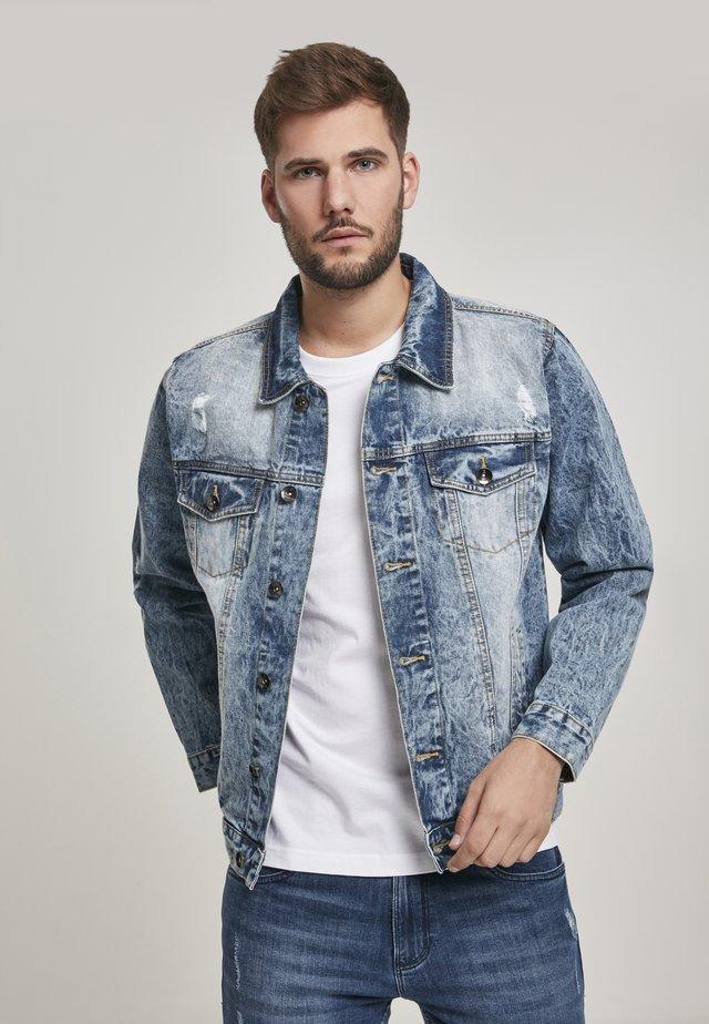 HERREN BASIC TRUCKER JACKET - Denim jacket - blue denim