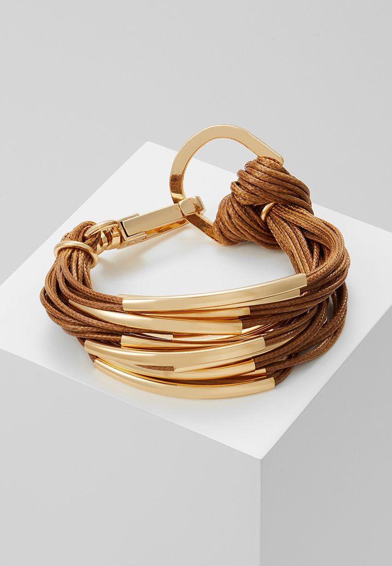 sweet deluxe - ELLA - Armbånd - gold-coloured/brown
