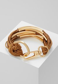 sweet deluxe - ELLA - Armbånd - gold-coloured/brown - 2
