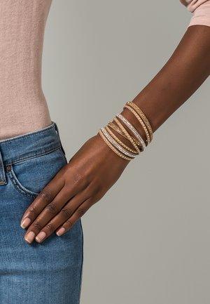 WANDA - Armband - brown/crystal/topaz/gold