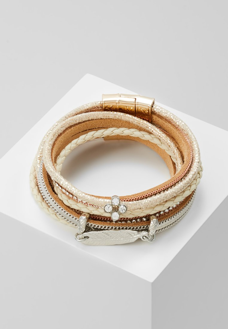 sweet deluxe - MEMPHIS - Bracciale - gold-coloured/braun