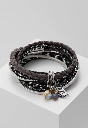 ADEOLA - Pulsera - silver-coloured/black